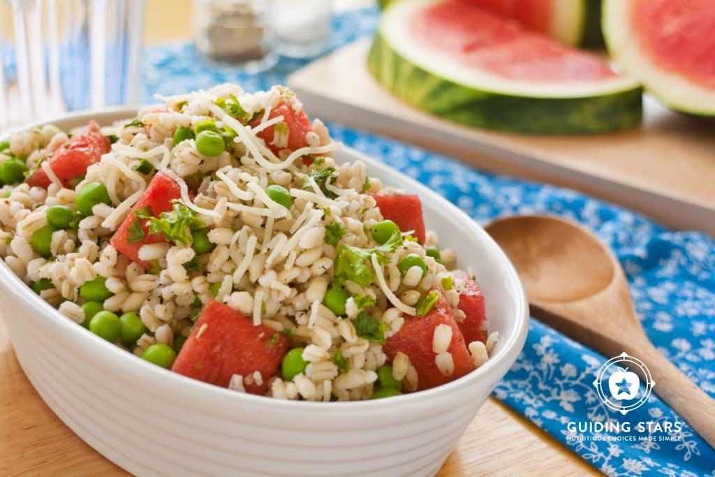 Summer Pea, Watermelon & Farro Salad
