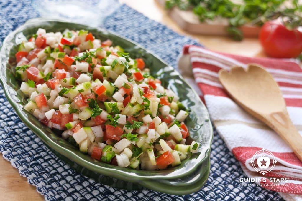 Israeli Salad with Jicama