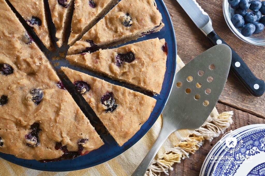 Blueberry Tofu Cake