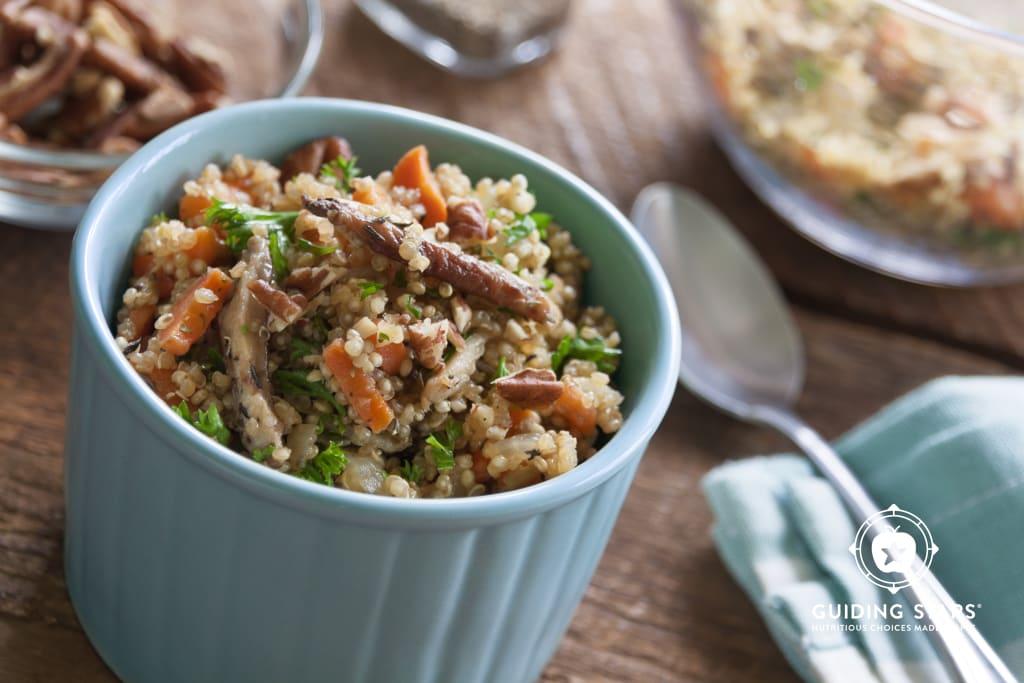 Warm Quinoa Pilaf Salad