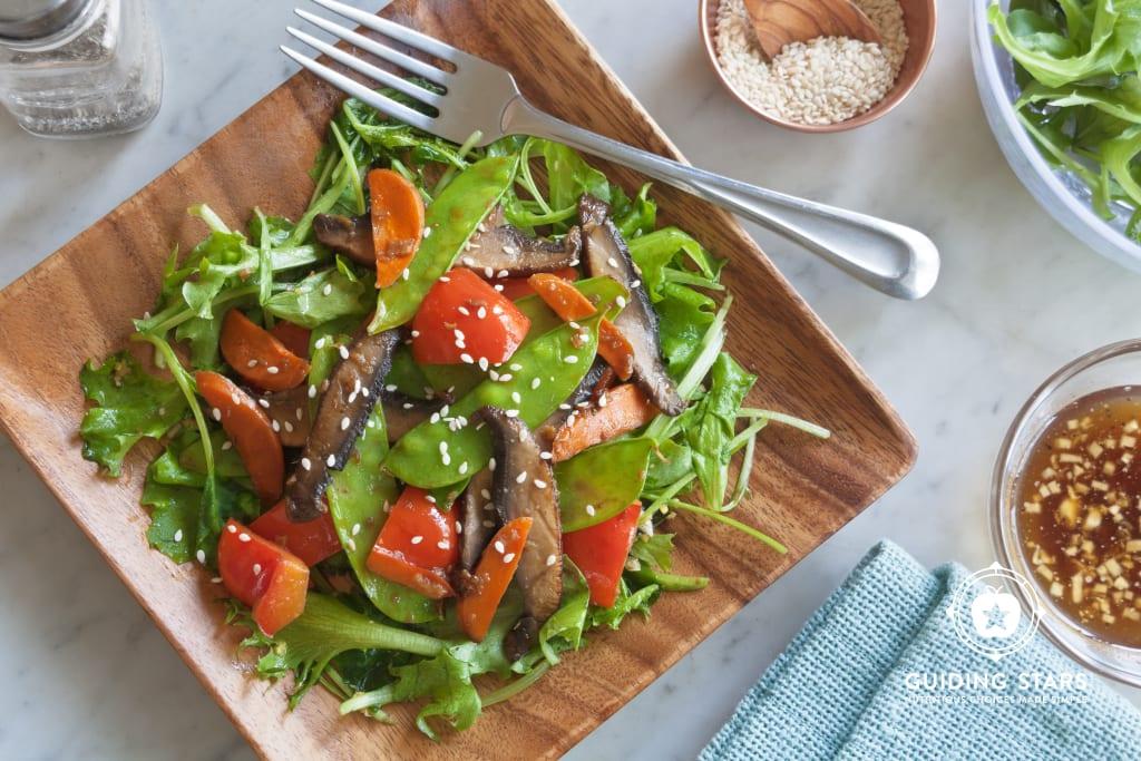 Portobello Stir Fry Salad