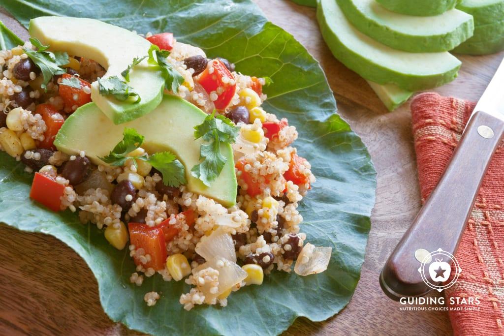 Southwest Quinoa Collard Wraps