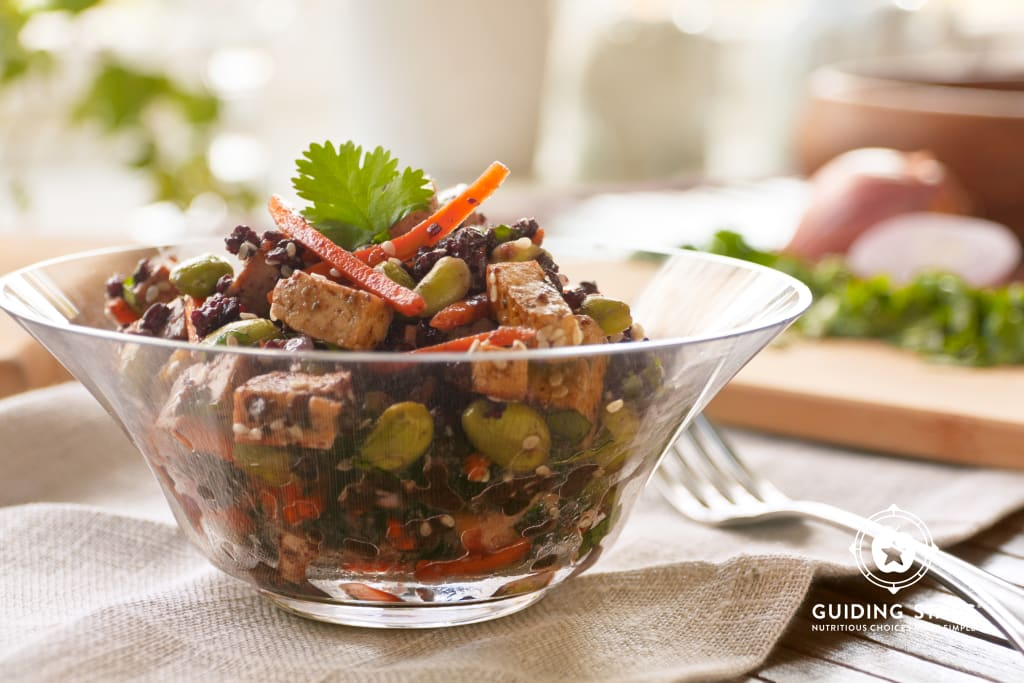 Black Rice Dressing with Miso Dressing