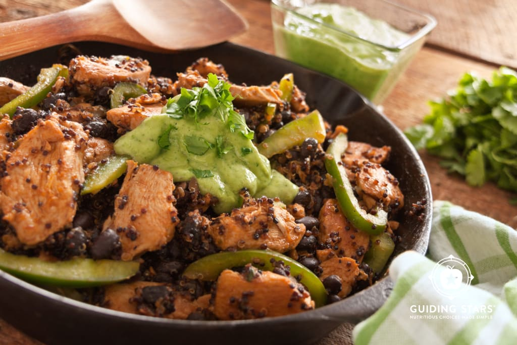 Quinoa and Chicken Enchilada Skillet
