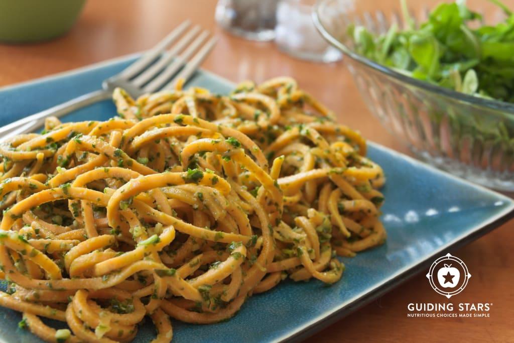 Sweet Potato Noodles with Pesto