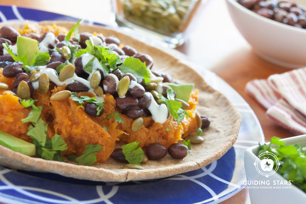 Tostadas with Butternut Squash and Black Beans