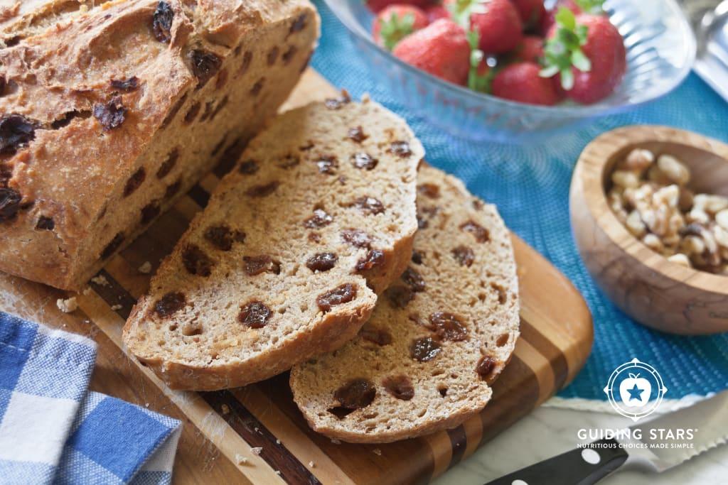 Cinnamon Raisin No-Knead Bread