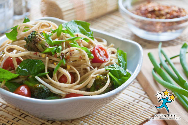 Chinese Noodles with Spring Vegetables