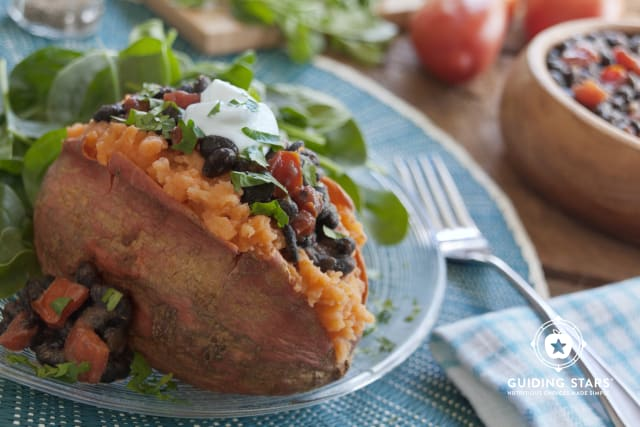 Sweet Potatoes with Black Bean Salsa