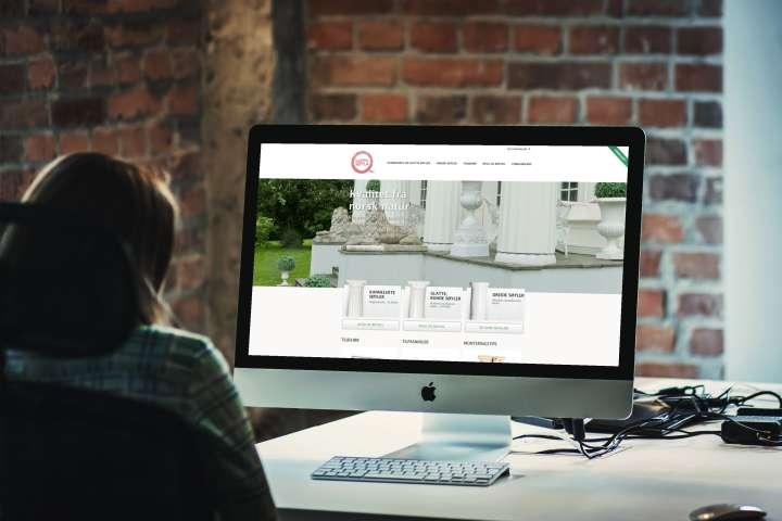 Kloppensøyla - nettside, konfigurator og nettbutikk