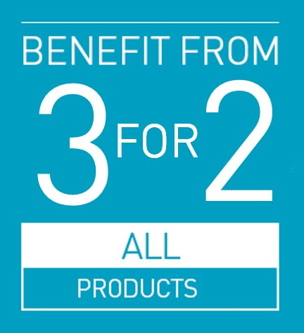 3 FOR 2 ON ALL PRODUCTS