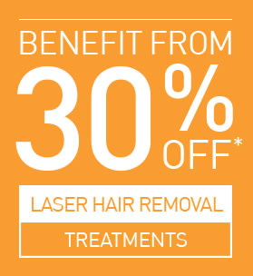 30% OFF SELECTED LASER HAIR REMOVAL