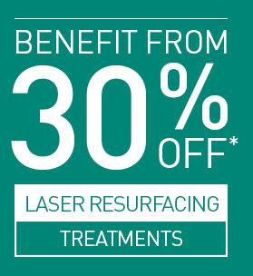 30% Off Laser Resurfacing