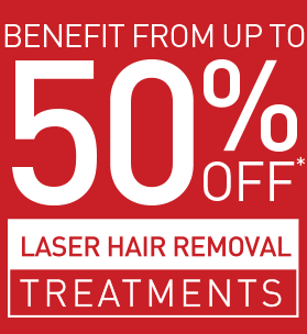 UP TO 50% OFF LASER HAIR REMOVAL