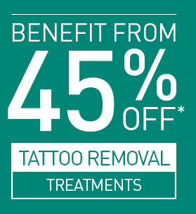 45% OFF TATTOO REMOVAL