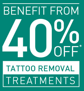 40% OFF TATTOO REMOVAL
