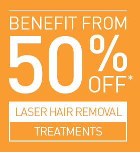 50% OFF LASER HAIR REMOVAL COURSES