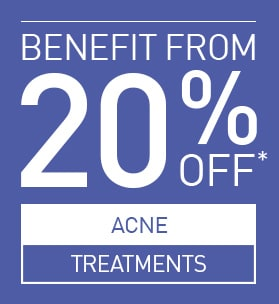 20% OFF ACNE TREATMENTS!