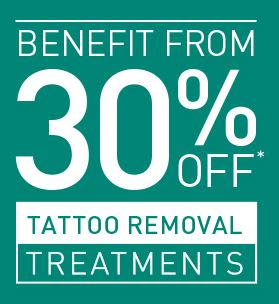 30% Off Laser Tattoo Removal