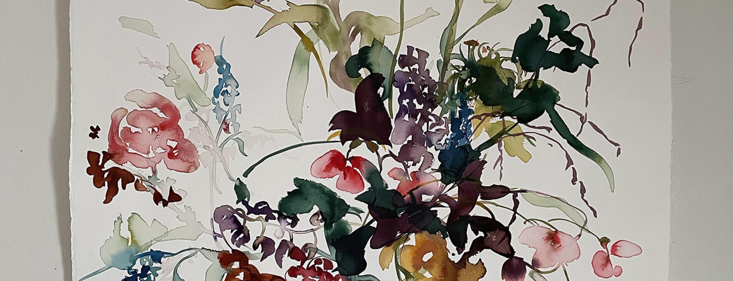 Blommor i tusch - halvdag