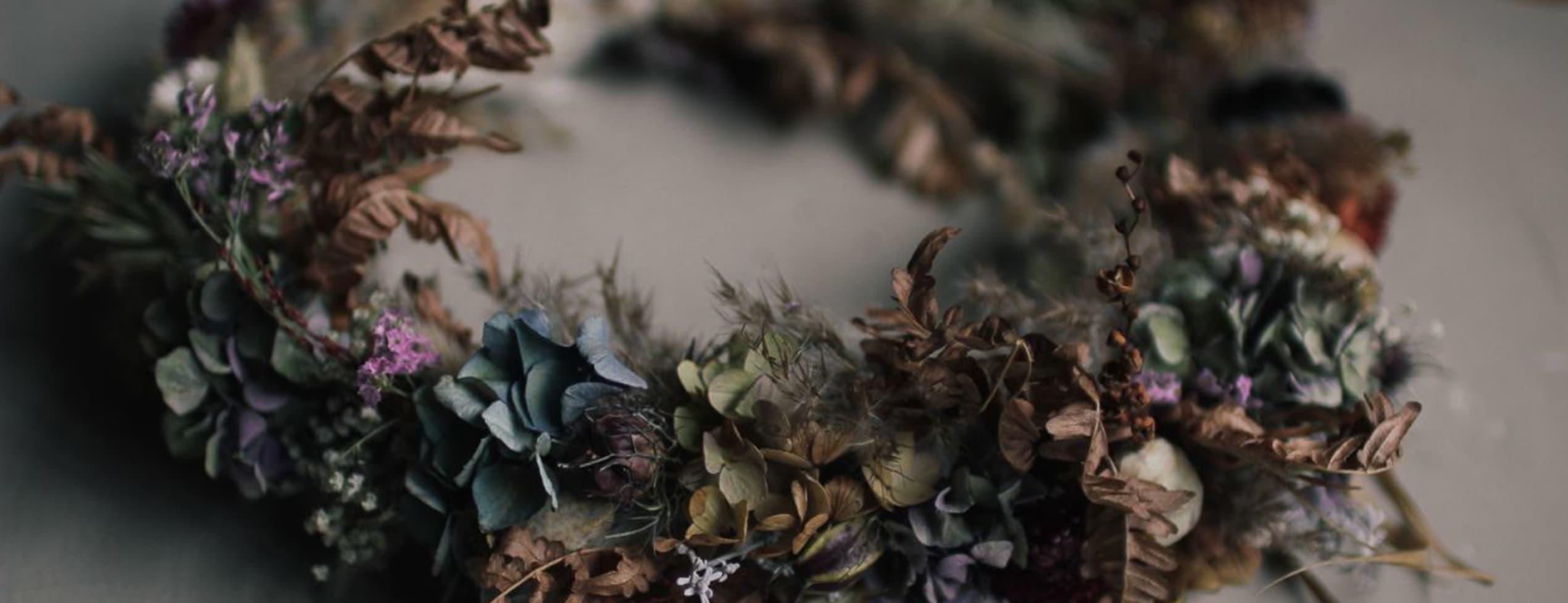 Hösttrend - dekorationer med torkade blommor
