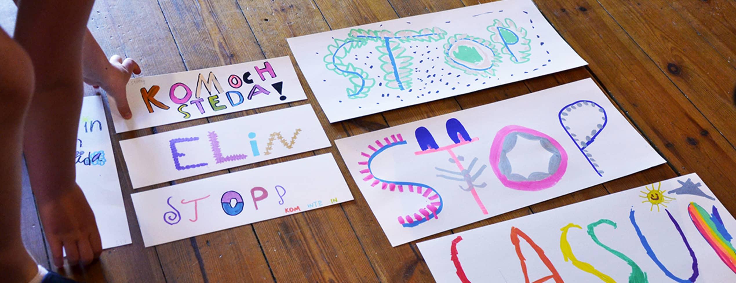 Lettering Workshop för barn och vuxna