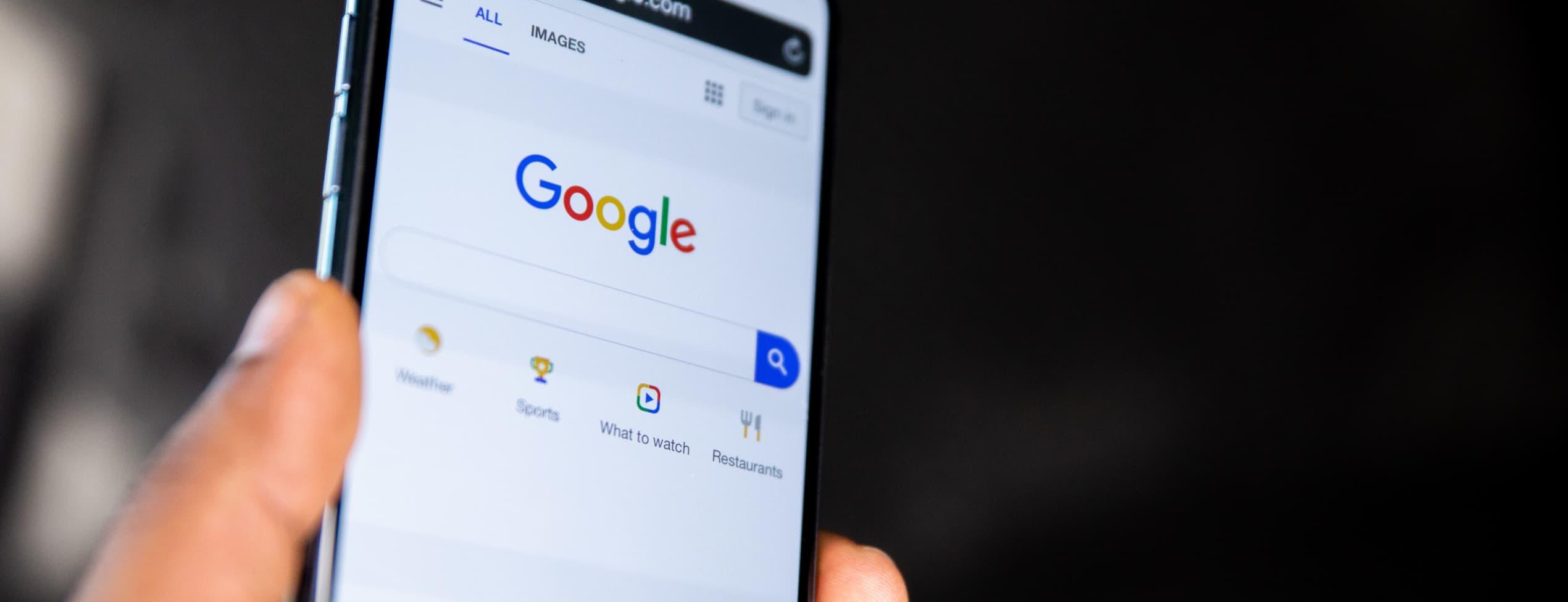 Hamna på Googles förstasida