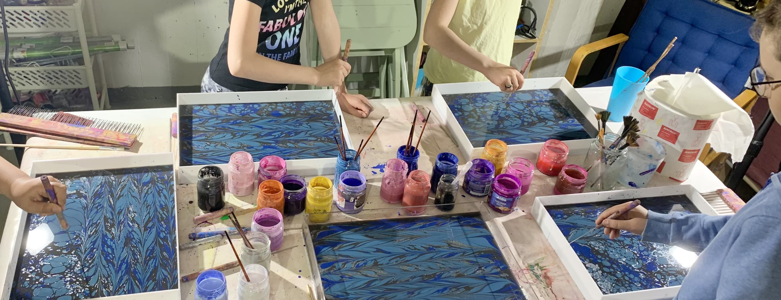 Vattenmålning för barnen -  5 träffar