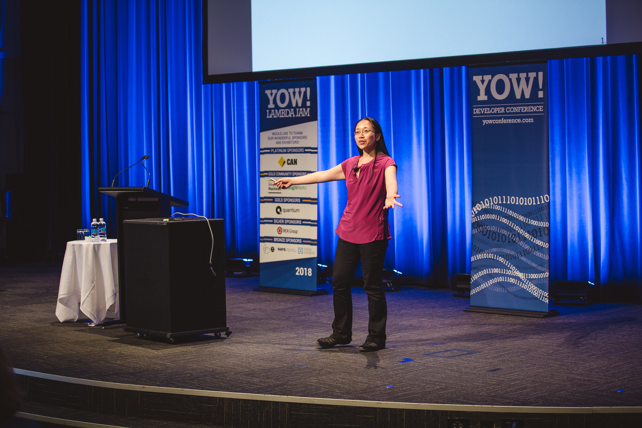 Eugenia Cheng on stage