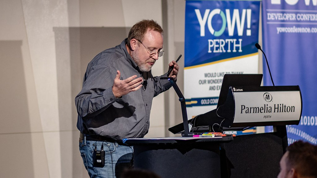 Jeff Patton on stage at YOW! Perth