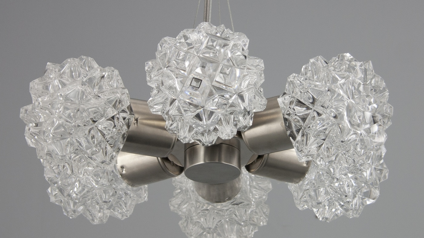 Retro chandeliers new from skinflint