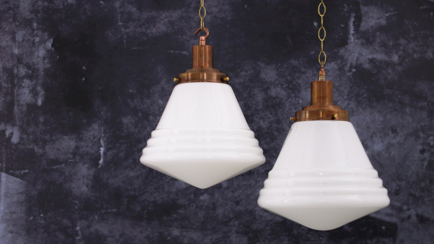 Opaline glassware hanging pendant by skinflint