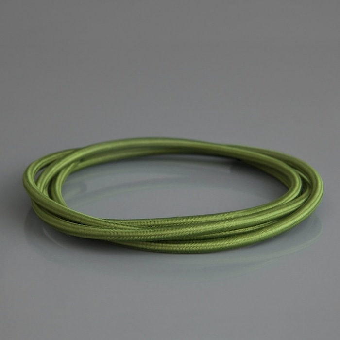 Olive Green Traditional Braided Lighting Cable Skinflint