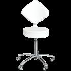 Ionto-Comed - Arbeidstol - diamantrygg med rundt sete / hvit