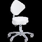 Ionto-Comed - Arbeidstol - diamantrygg med sadel sete / hvit