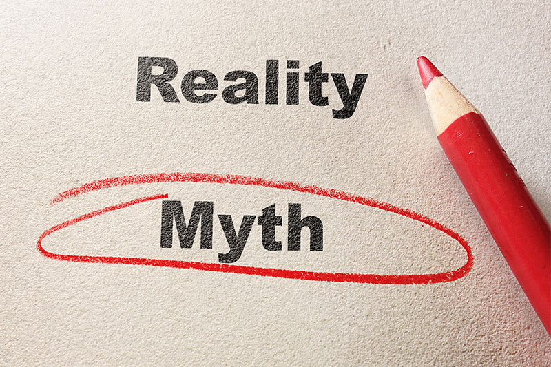 reality and myth written on paper