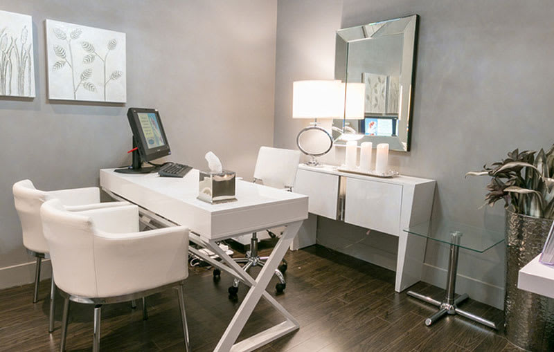 Consultation room for medical aesthetic treatments at Skin Vitality in Ajax