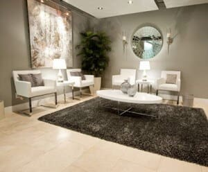 waiting area in yorkville skin vitality medical clinic