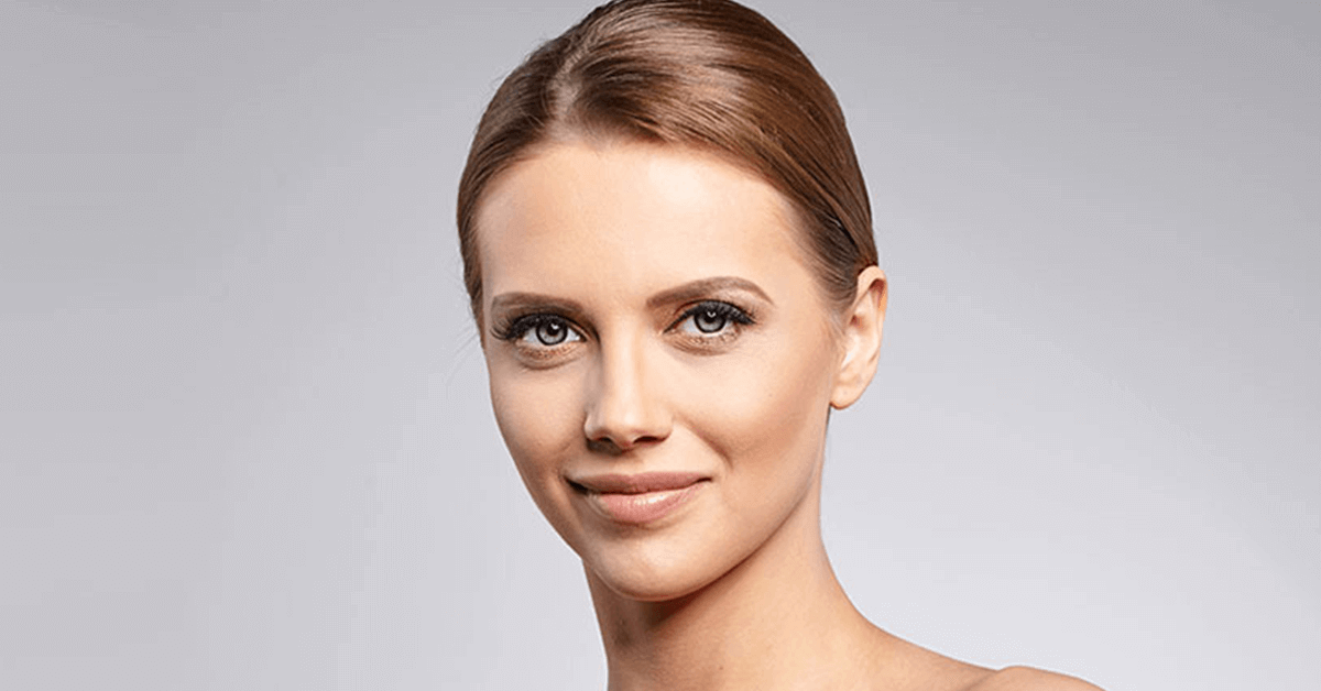 woman with clear skin from botox treatment