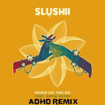 Slushii - Never Let You Go (feat. Sofia Reyes) (ADHD Remix) Artwork