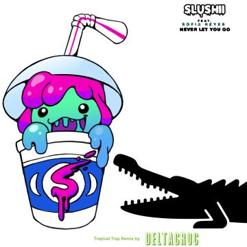 Slushii - Never Let You Go (feat. Sofia Reyes) (DeltaCroc Remix) Artwork
