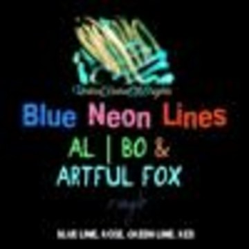 Arms-B - al l bo & Artful Fox - Blue Neon Lines (remix by Arms-B ) Artwork