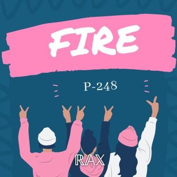 RAX Label - P-248 - Fire Artwork