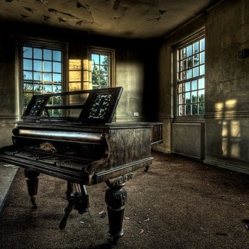 Wilhelm Frid - Lonely piano Artwork