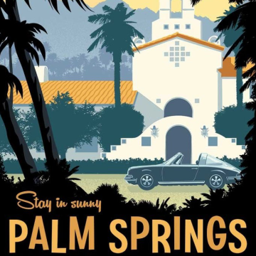 Luna Shadows - Palm Springs (feat. In.Drip.) (Samwhere Out There Remix) Artwork