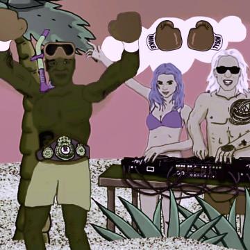 Tiki Lau - Mike Tyson (feat. Mike Tyson) (The Vortex Spaceship Ride Remix) Artwork