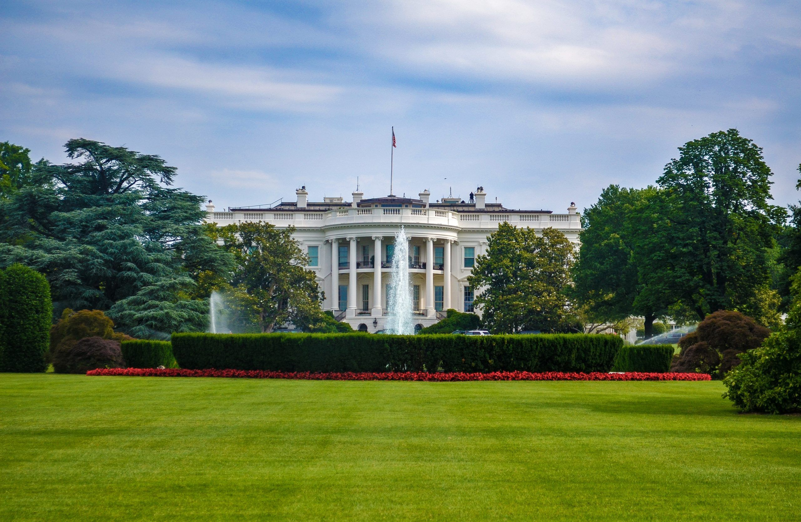 View of the White House from the exterior green
