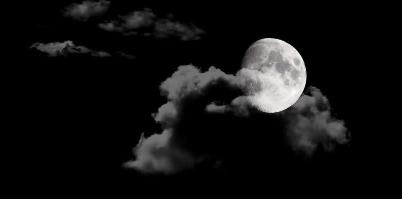dark sky with a moon