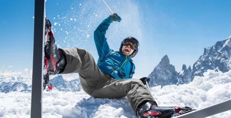 extremely happy skier