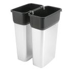 Geo avfallsbeholder 55 l, metall/sort